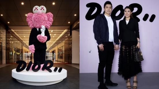 又有新的打卡點啦!高四米、由一萬朵擬真牡丹與玫瑰打造的藝術裝置「KAWS BFF」,為台北Dior Men Pop-Up Store揭開序幕!