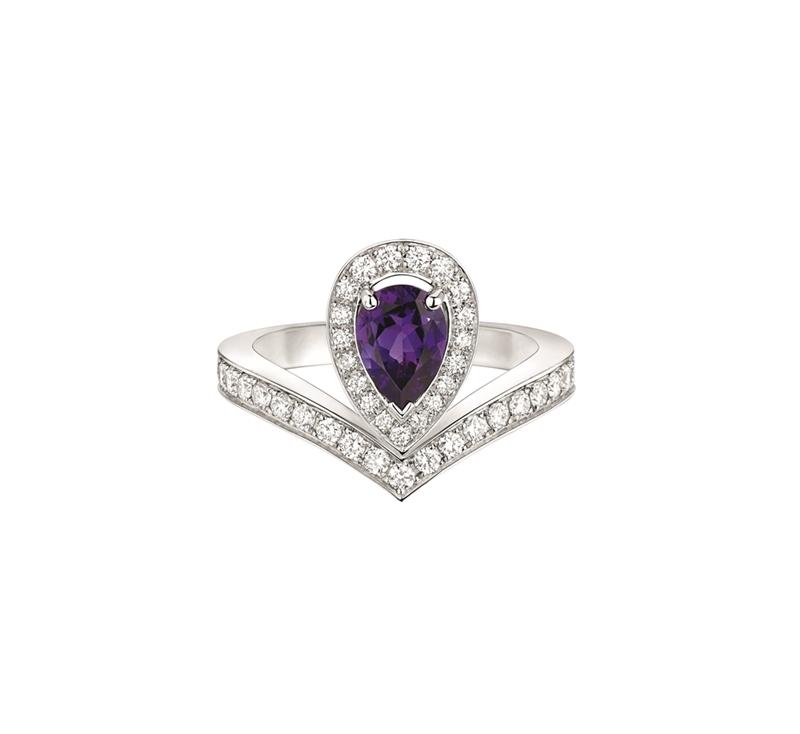 CHAUMETJosephine Aigrette 18K白金紫水晶戒指 建議售價