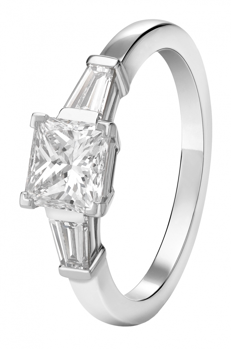 BVLGARI Bridal - Griffe 公主型切割鑽石婚戒 主石約1克拉起