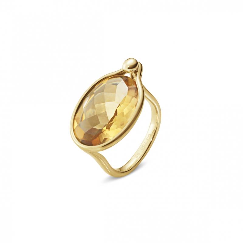 GEORG JENSEN_SAVANNAH 18K黃金黃水晶戒指_建議售價NT 38,000起