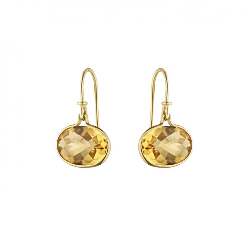 GEORG JENSEN_SAVANNAH 18K黃金黃水晶耳環_建議售價NT 22,500