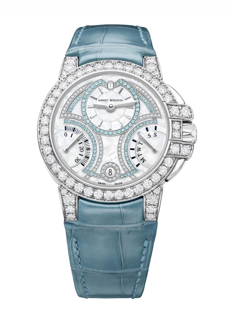 海瑞溫斯頓Harry Winston海洋Ocean系列20週年限量版雙逆跳功能36毫米自動腕錶