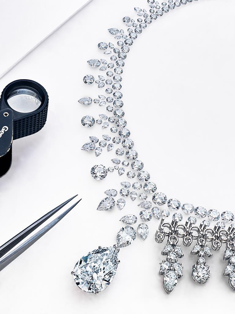 Tiffany Aurora鑽石項鍊