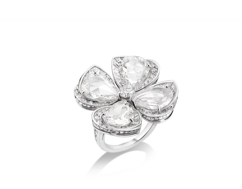 BVLGARI Fiorever系列頂級鑽石戒指