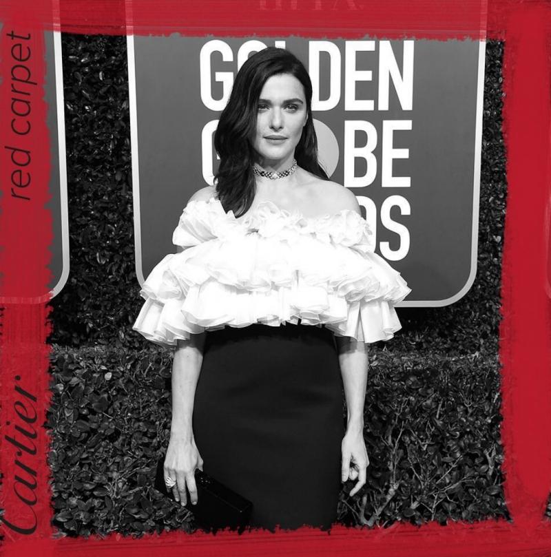 入圍電影最佳女配角的Rachel Weisz 瑞秋懷茲,穿戴卡地亞Cartier的卡地亞珠寶頸鍊