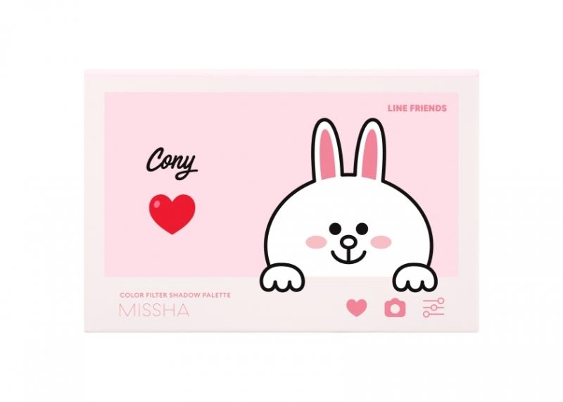 MISSHA X LINE FRINEDS完美濾鏡眼頰彩盤(No.6粉漾兔兔),NT850