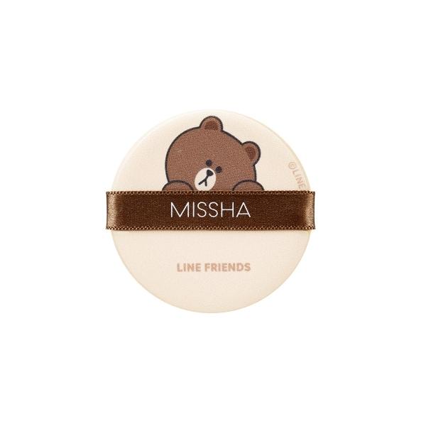 MISSHA X LINE FRINEDS熊大氣墊粉餅專用粉撲4入,NT200