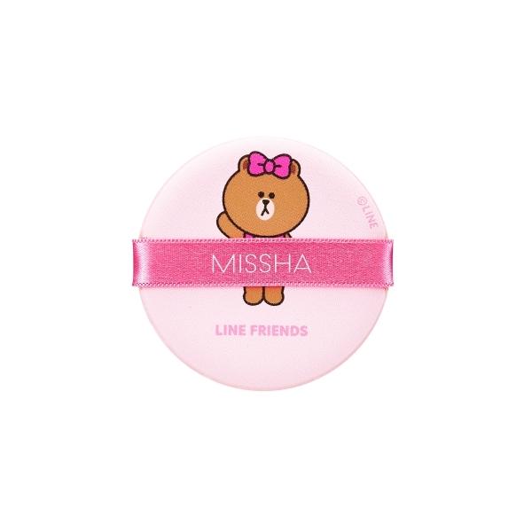 MISSHA X LINE FRINEDS熊美氣墊粉餅專用粉撲4入,NT200