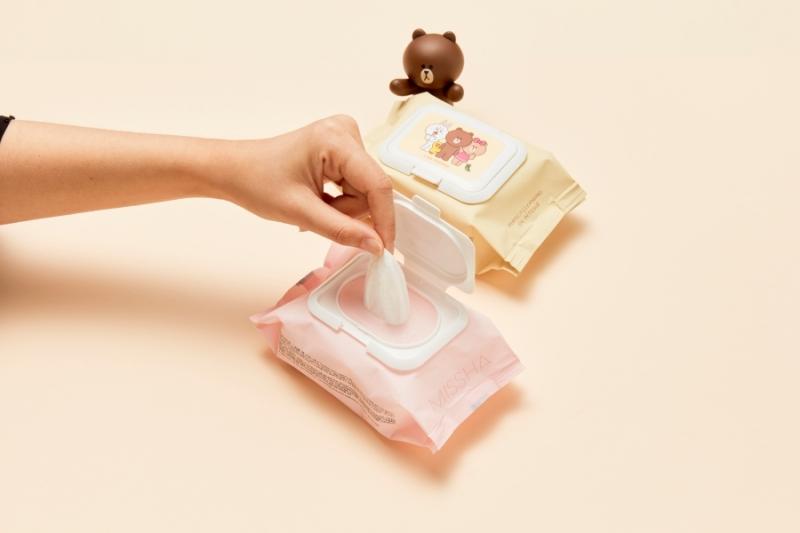 MISSHA X LINE FRINEDS活泉保濕卸妝濕巾