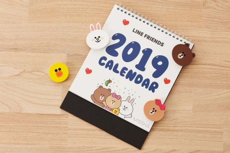 MISSHA X LINE FRIENDS桌曆 (韓國版)