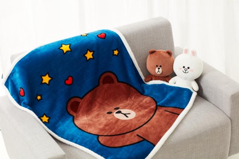 MISSHA X LINE FRIENDS熊大暖心小毛毯