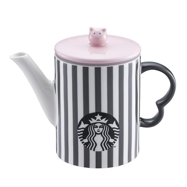 條紋小豬茶壺,售價$1,400。容量:16OZ