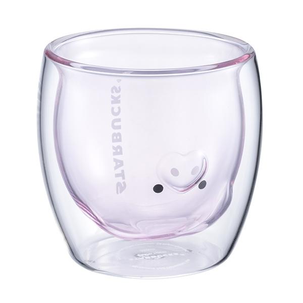 小豬造型雙層玻璃杯,售價$600。容量:250ML。